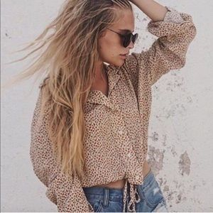 Lenny button down top from Brandy Melville